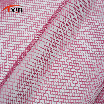 pink hexagonal polyester knitted netting fabric for bag