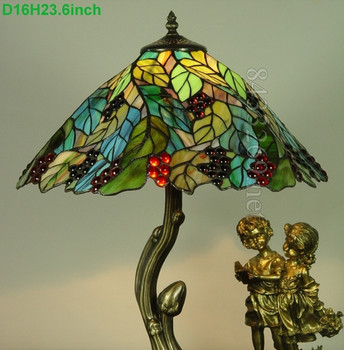 special lamp base design for tiffany style table lamps made by stained glass