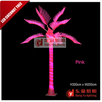 Artificial led outdoor palm trees coconut trees beautiful pink artificial led outdoor palm trees coconut trees beautiful pink outdoor light up trees mozeypictures Images