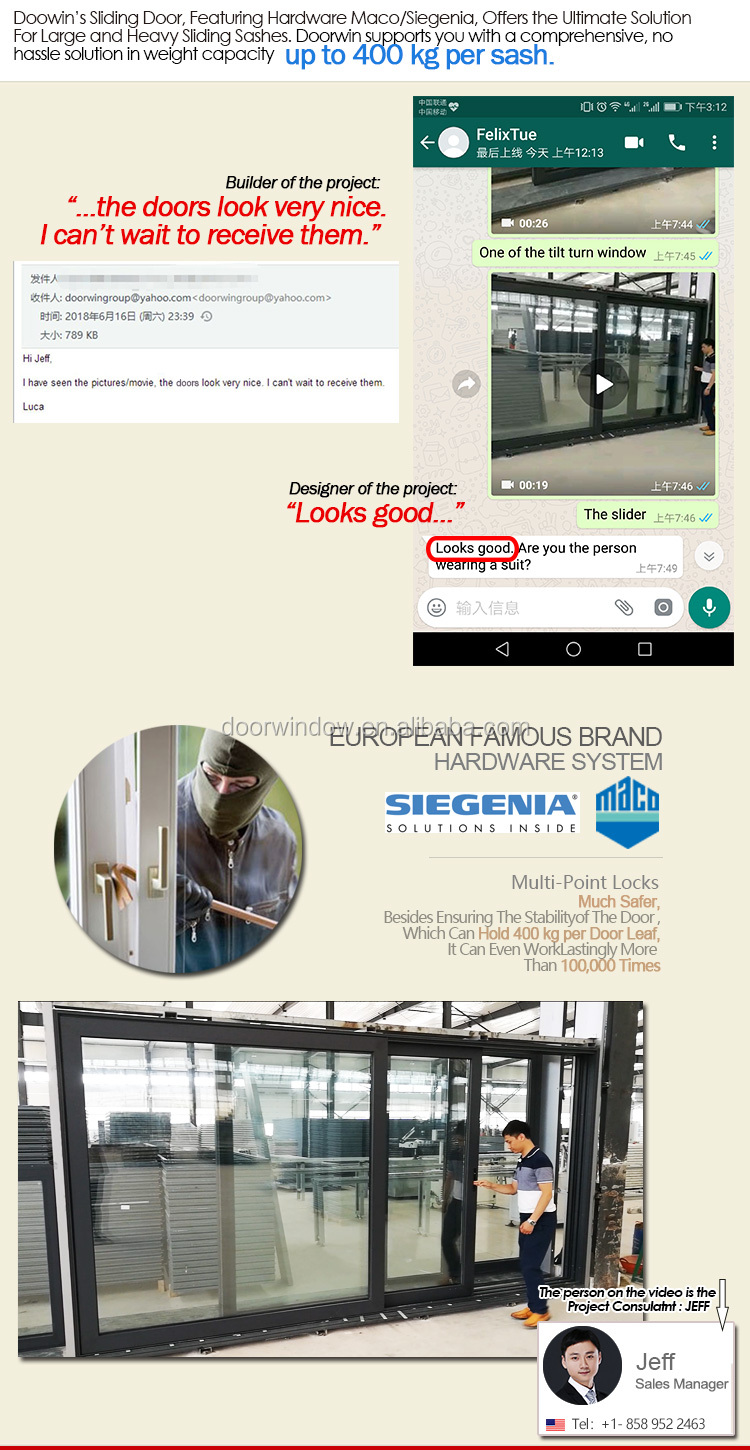 aluminum used sliding glass doors sale