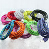 usb to mini 8 pin cable fabric braided usb data cable MFI usb data sync charging cable MJ-003