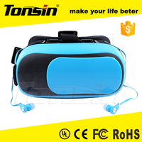 adjustable focus Head Mounted Display for mobile phone , 3d hmd helmet with movie and game
