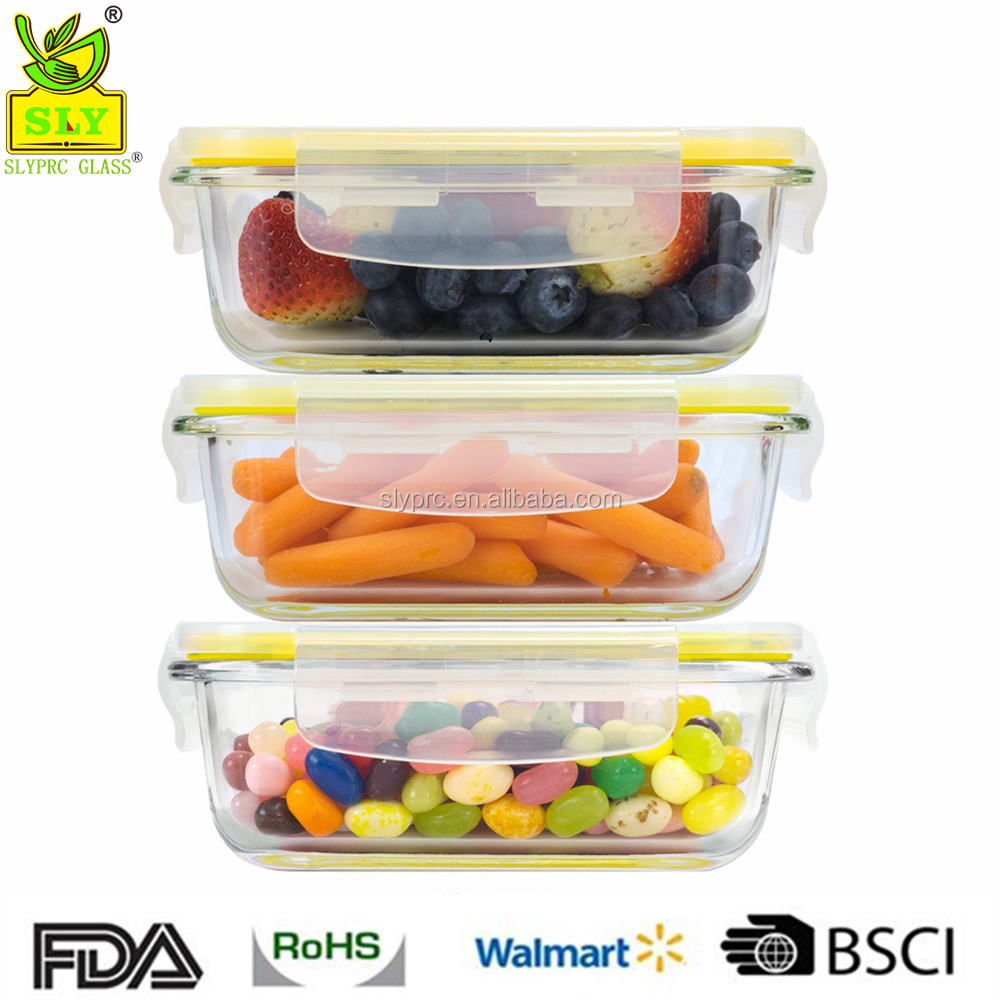 Glasslock Food Storage Containers Rectangular Glass Dish Set Of 3