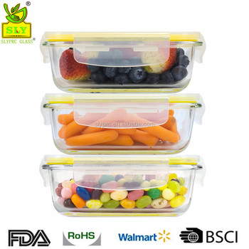 Glasslock Food Storage Containers Rectangular Glass Dish Set Of 3 Glass Storage  Container