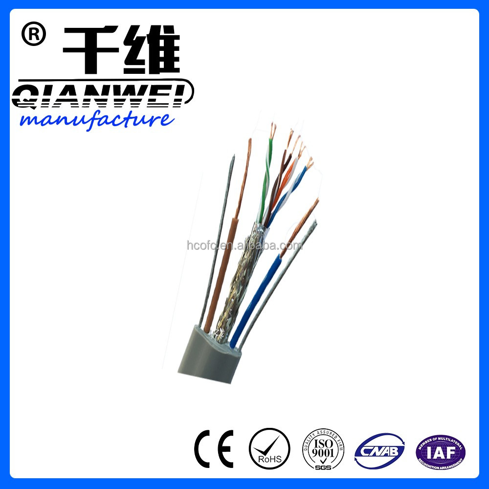 High speed UTP/SFTP for indoor PVC insulation The elevator cat5e cable lan calbe from China