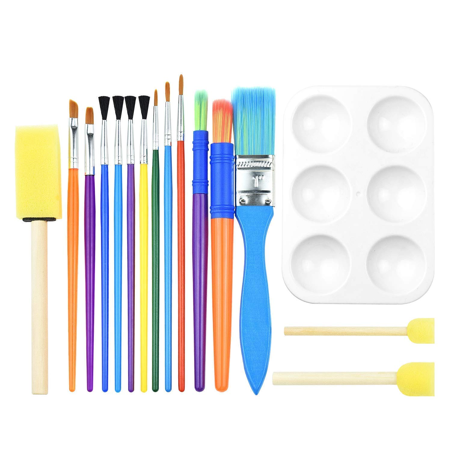 Paintbrush Sets,Paint Brush Kids Painting Set Oil Acrylic Watercolor Painting School Art Supplies Palette Watercolor Brush Acrylic Paint Brushes for Artists Painters Beginners Students Kids