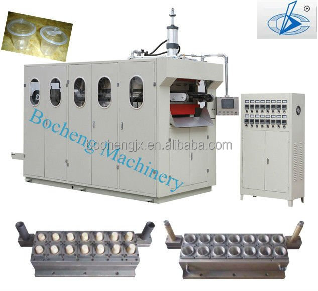 Fully-Automatic Plastic Plates and Cups Making Machines for Plastic Container Making Thermoforming Machine