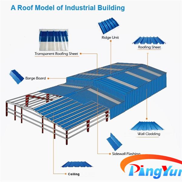 Anti Corrosion Upvc Plastic Roof Sheet Trapezoidal Pvc