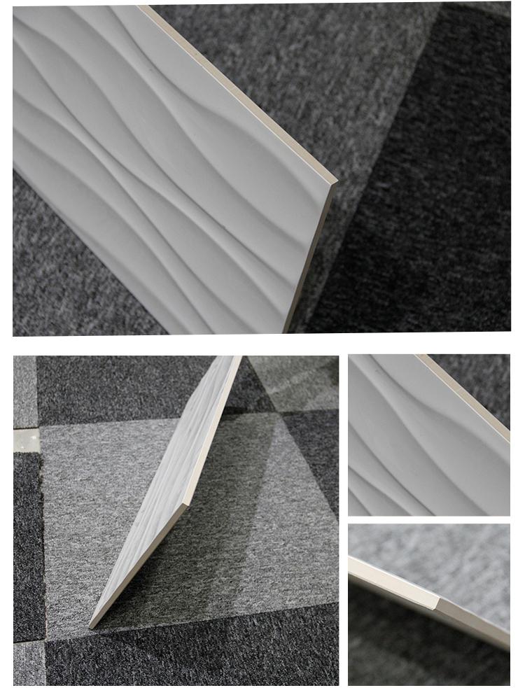 2017 Polished Porcelain Wavy White Wall Royal Ceramic Tiles