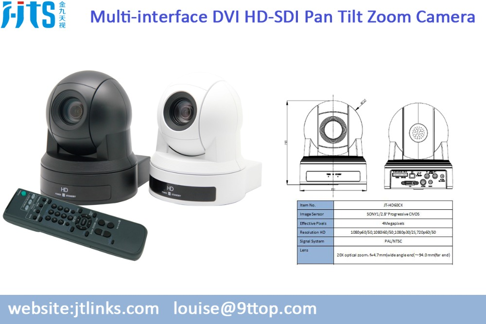 Hoge Kwaliteit Full HD SDI/HDMI Interface Videoconferentiecamera Pelco Systeem