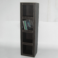 Multipurpose Vertical Faux Leather Cd Display Rack
