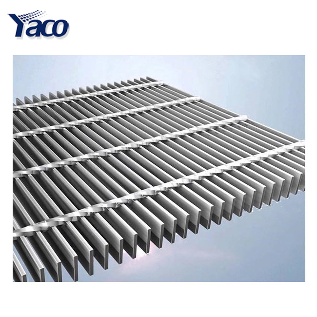 Stainless steel bar grating / steel grating tree pool cover with 6mm cross bar