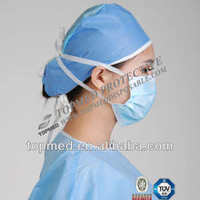 3 ply disposable nonwoven face mask with earloop/tie ISO CE NELSON approval