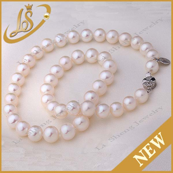 Wholesale good selling natural freshwater round pearl strands prices