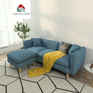 Modern Upholstery fabric Bright-colored bamboo design furniture sofa for living room sofa set