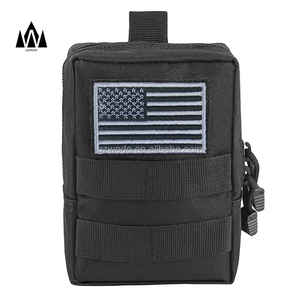 Custom Water Proof EDC Tactical Molle Small Pouch Black