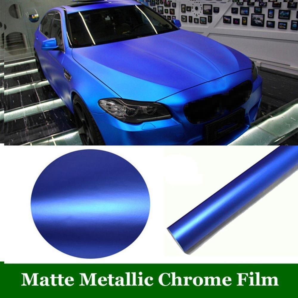 VViViD Premium 5ft x 100ft Matte Metallic Blue Ghost Vinyl Wrap Decal
