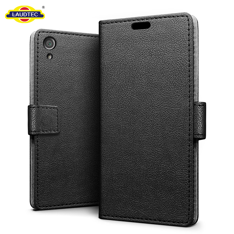Premium Stand Slim PU Leather Flip Protective Wallet Cover Case For Sony Xperia XA1