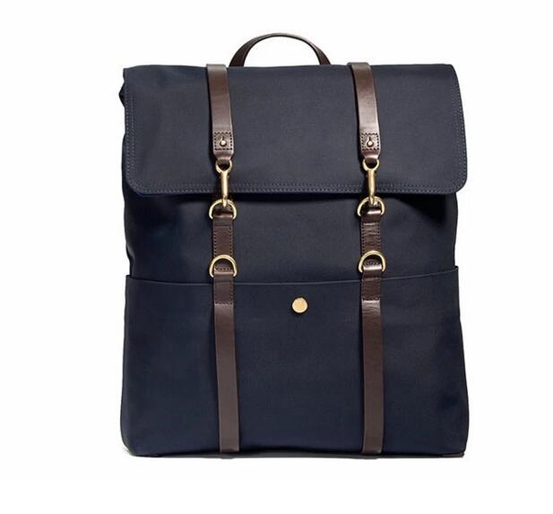New stylish backpack vintage waxed canvas bag rucksack