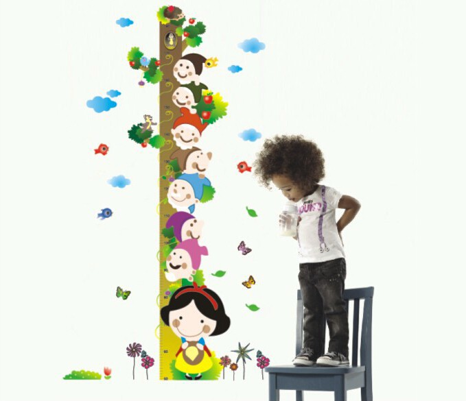 Tree Height Measurement Growth Chart Wall Deco For Nursery