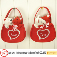 Trending 2016 best-selling pretty cut felt basket for Valentine from China