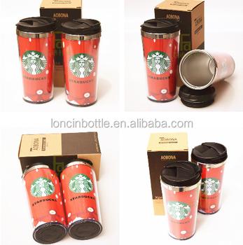 400ml Stainless Steel Tumbler Funny Cups Starbucks Coffee Tea Mug Cup Paper Insert Thermos Mug
