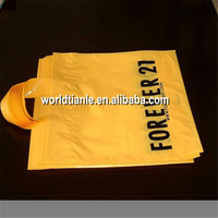 Printed with you own logo loop handle ldpe plastic clothes bag