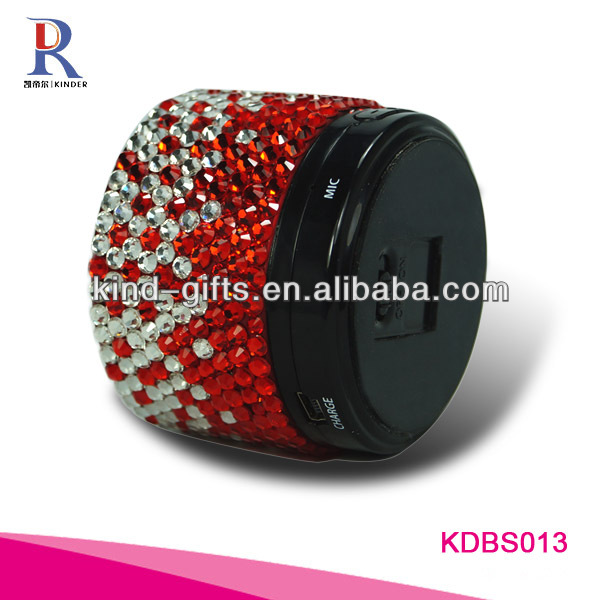 New Bling Rhinestone Bluetooth Portable Speakers With Crystal China Factory