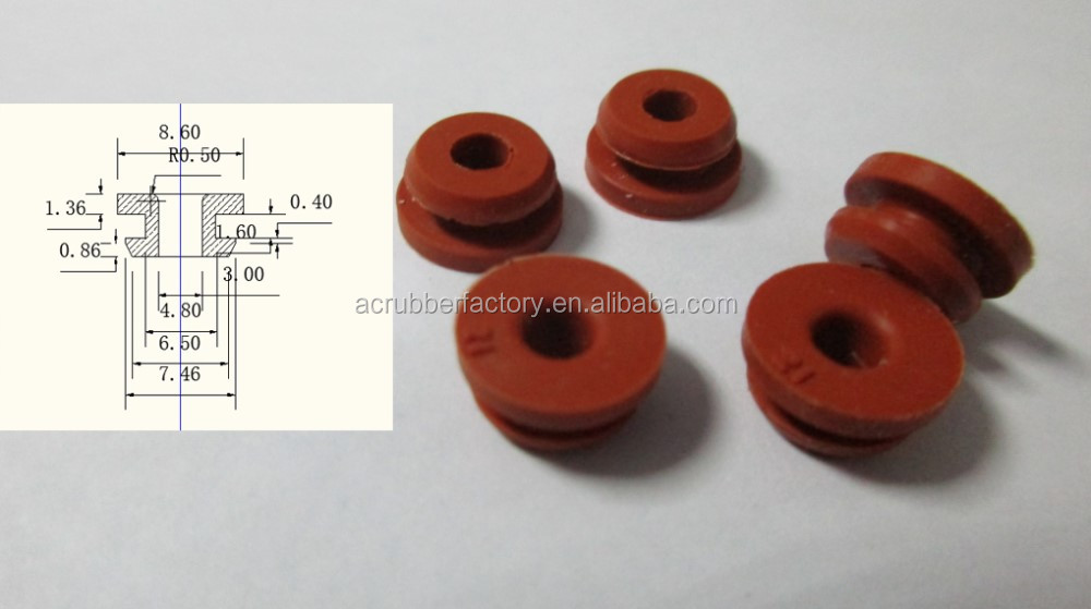 Rubber Waterproof Grommet Automotive Silicone Rubber Cable