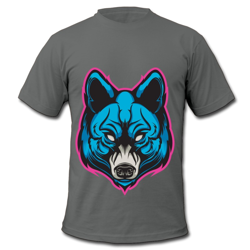 3c3035cf9 Get Quotations · Only 1 Piece Slim Fit T Mans neon wolf Customized Quotes Tee  Shirts for Mans 100