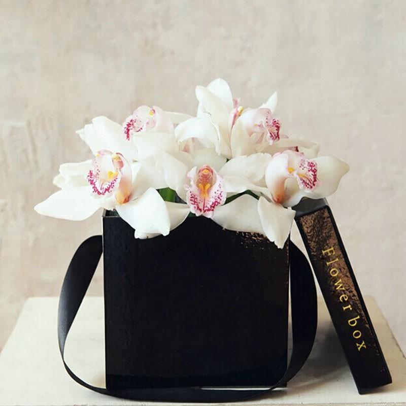 Customized paper flowers box craft kraft paper tube white for Cardboard tube flowers