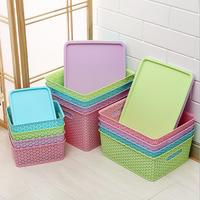 QM Storage things Use and Eco-Friendly Feature Rectangle Tray Plastic Storage Basket