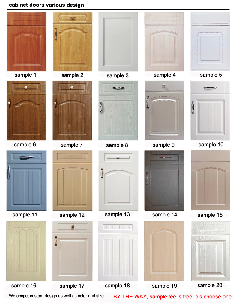 Pvc Cabinet Doors : Pvc foil wrapped kitchen mdf cabinet doors buy