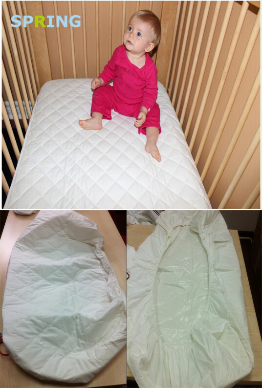 Waterproof Crib Bed Mattress Cover Baby Pad Protector