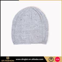 Good quality cheap 100 acrylic knitted hat custom ski cap