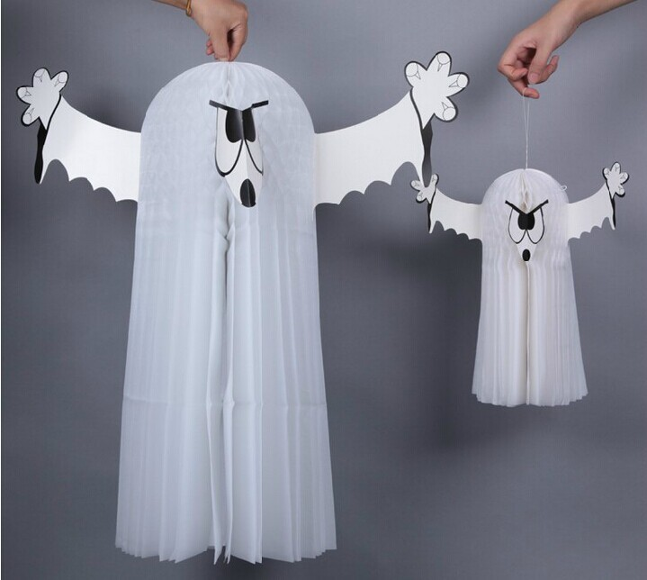 halloween party supplies decorations vintage halloween 3d parachute ghost yarn hanging decoration hanging wall decor