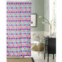 2014 new design unique fancy printed polyester u-shaped shower curtain rod