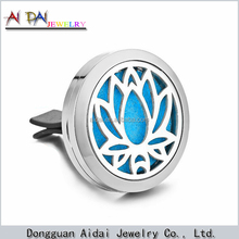 NEW Lotus Magnet Diffuser Car aromatherapy Locket Pads Essential Oil 316 Stainless Steel Car Diffuser