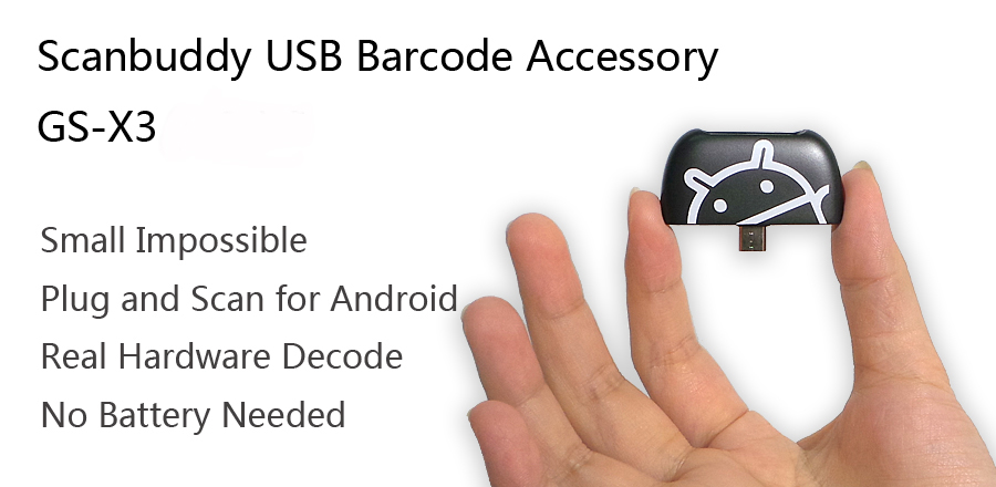 Generalscan Black&White Barcode Scanner GS X3(SE655) 07 Micro USB Mini Barcode Reader Android Barcode Scanner