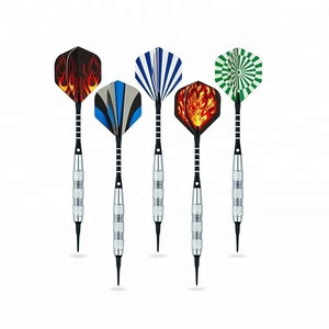 15 Pack Soft Tip Darts 17 Grams with Aluminum Shafts and 5 Style Flights + Extra 60 Pcs Dart Tips