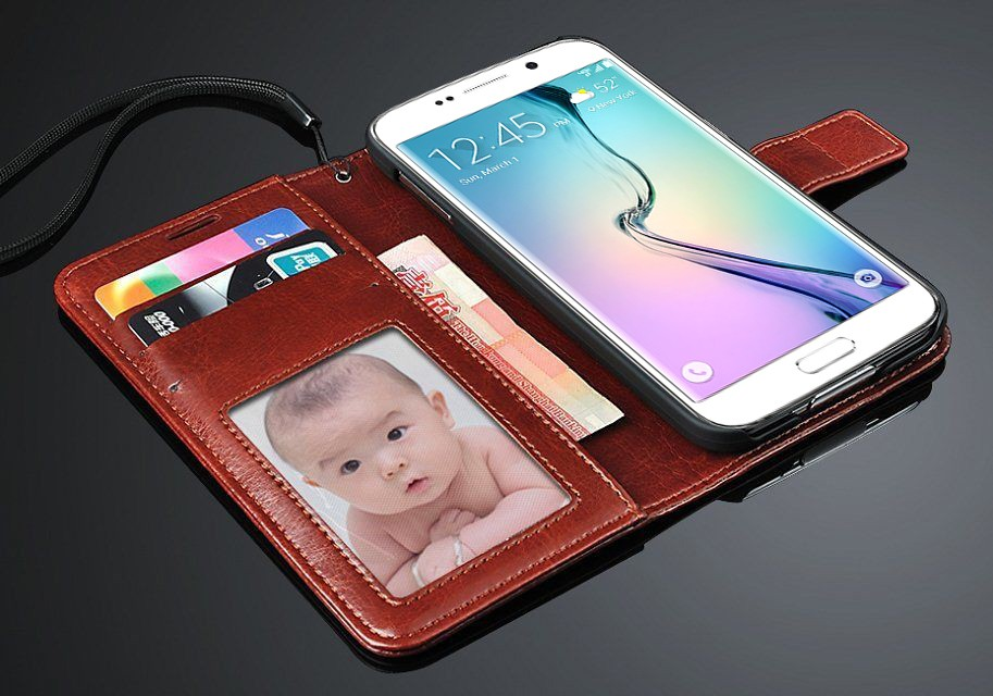 Classic Leather Phone Book Flip Cover for Samsung galaxy S8