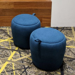 Children furniture popular design moroccan pouf with handle