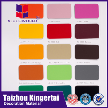 Alucoworld Acp Color Chart Aluminium Composite Material Acm Cladding