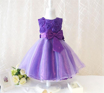 Many Color Kids Party Dress Children Summer Beautiful For Wedding