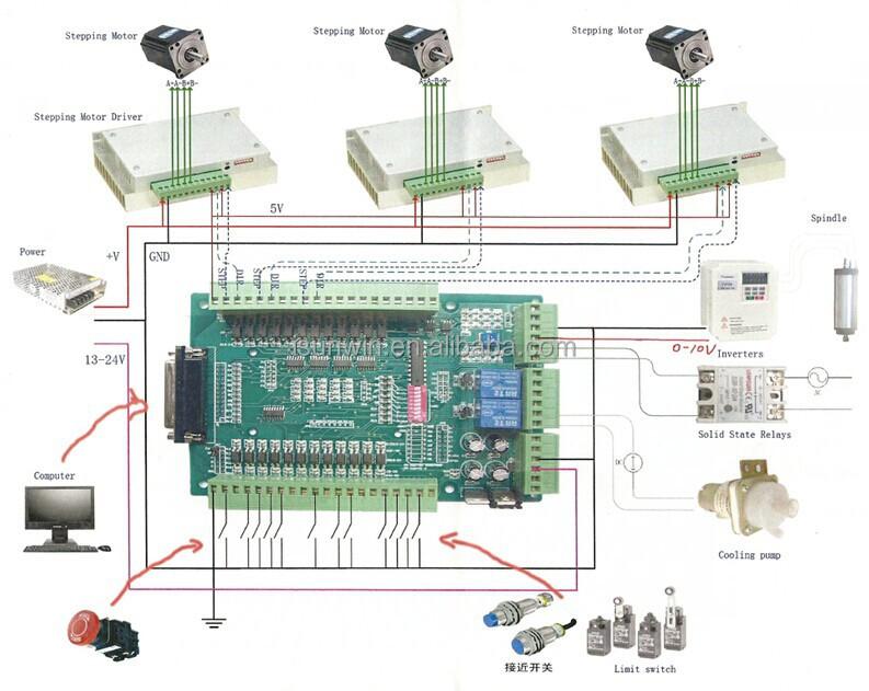mach3 interface board wiring