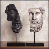 Ireland Handmade Resin Craft Man Mask Statue With White Black Folk ...