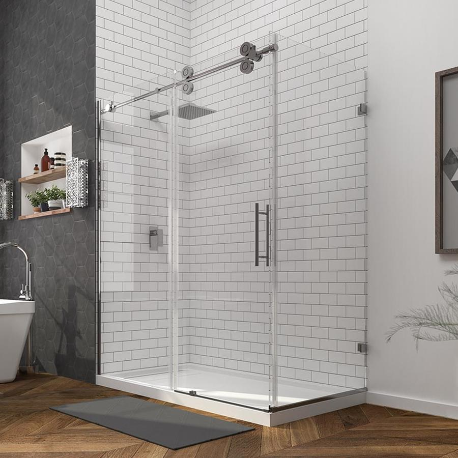 Kinmade Double roller glass sliding shower enclosure/rectangular ...