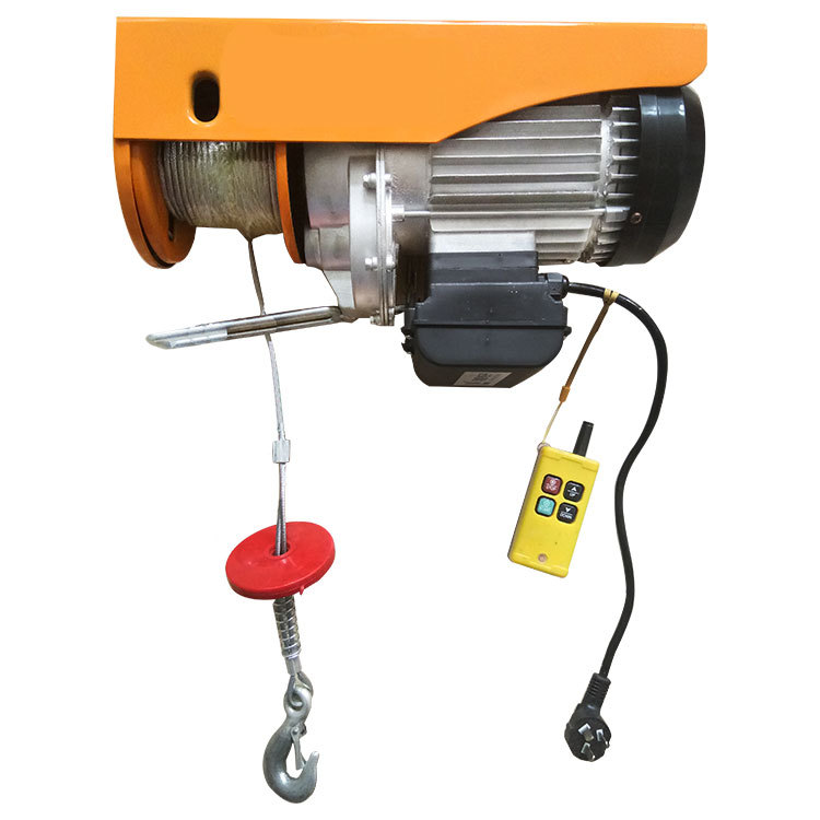 Mini electric wire rope hoist large clothes line