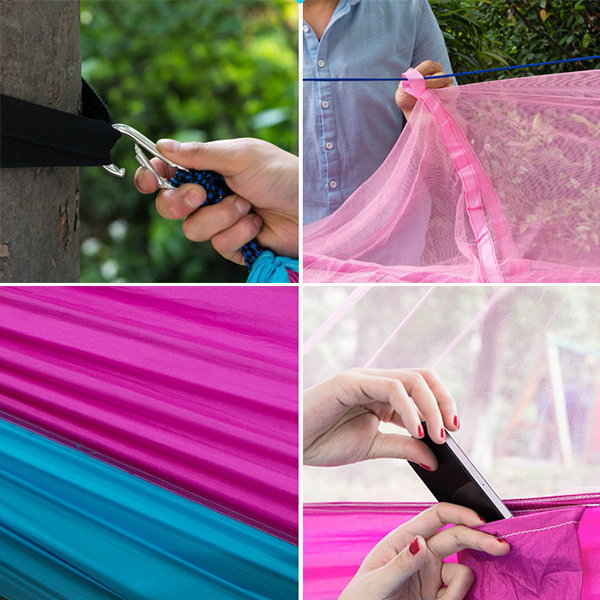 Hammock with Mosquito Net Tent Repellent Camping Insects Shelter Portable Comfy GW-DH02