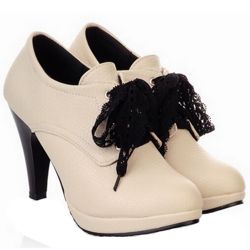 a391bd862f128 Buy 2014 fashion sexy platform high heels women boots ankle boots heels  shoes woman autumn leather boots botas mujer size 35-43DX560 in Cheap Price  on ...